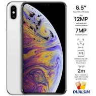 Apple iPhone Xs Max Dual SIM With FaceTime - 256GB, 4G LTE, Silver (NANO SIM+NANO SIM)