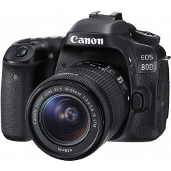Canon EOS 80D Lens Kit - 24.2 MP, SLR Camera, 18 - 55mm IS STM