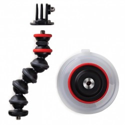 Suction Cup & GorillaPod Arm (Black/Red)