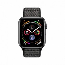 Apple Watch Series 4 + LTE 40mm Space Gray Aluminum Case with Black Sport Loop-MTVF2