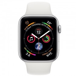 Apple Watch Series 4 MU642 40mm Silver Aluminum Case With White Sport Band (GPS)