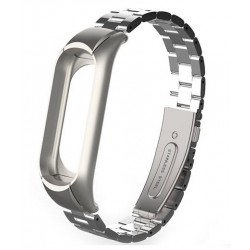 XIAOMI MI BAND 3 - Stainless Steel Bracelet Wristbands SILVER