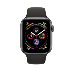 Apple Watch GPS + Cellular 40mm Space Gray Aluminum Case with Black Sport Band (MTVD2)