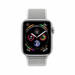 Apple Watch Series 4 + LTE 40mm Silver Aluminum Case with Seashell Sport Loop-MTVC2