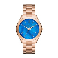 MICHAEL KORS Slim Runway Quartz Rose Gold-tone Stainless Steel Laides Watch MK3494
