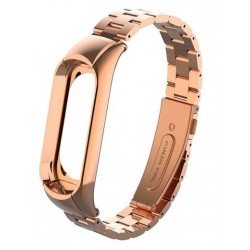 XIAOMI MI BAND 3 - Stainless Steel Bracelet Wristbands ROSE GOLD