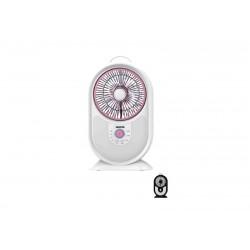 GEEPAS GF9621 Rech Mini Fan/Led Brght Light/50hrs 1x4