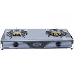 GEEPAS GK73 STAINLESS STEEL DOUBLE GAS BURNER 1X1Full safety