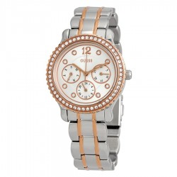 GUESS Enchanting Silver Dial Ladies Multifunction Crystal Watch W0305L3
