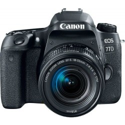 Canon EOS 77D EF-S 18-55mm F4-5.6 IS STM lens , 24.2 MP DSLR Camera