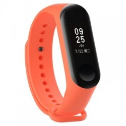 Xiaomi Mi Band 3 - Premium Silicone Fitness Tracker Wrist Strap Band-ORANGE