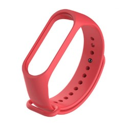 Xiaomi Mi Band 3 - Premium Silicone Fitness Tracker Wrist Strap Band-RED