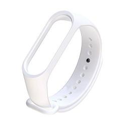 Xiaomi Mi Band 3 - Premium Silicone Fitness Tracker Wrist Strap Band-WHITE